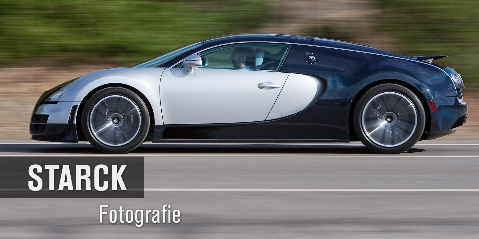 Thomas Starck Autofotografie - Bugatti Veyron Super Sport Seitenansicht in Fahrt