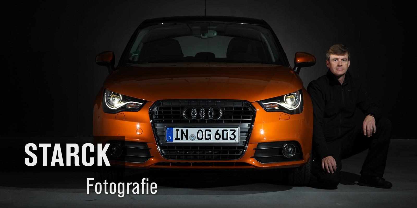 Frontalaufnahme Audi - Thomas Starck Studiofotografie